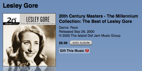 Leslie Gore, now distributed by a rap label